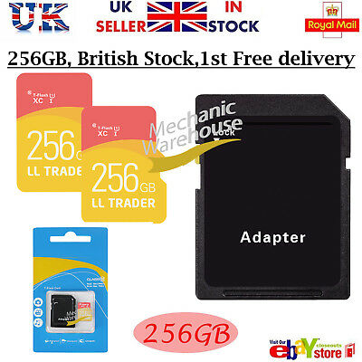 Micro SD / TF Card Class 10 TF Flash Memory SDHC  SDXC - 256GB - With Adapter UK