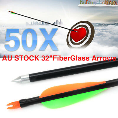 "32"" HEAVY DUTY FIBERGLASS ARROWS FOR Archery Hunting Compound Bow FIBER GLASS"