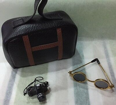 Bear/Doll Accessories  - Travel Suitcase, Sunglasses, & Camera