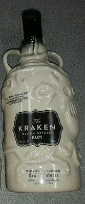 The Kraken ceramic Black Spiced Rum *SUPER RARE*SEALED*