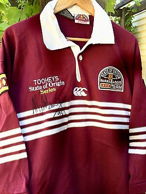 Mal Meninga AM- Signed Queensland State of Origin Jumper - Circa 1993