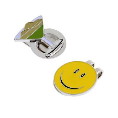 2pcs Ultralight Alloy Magnetic Golf Ball Marker with Hat Clip Golfer Gift