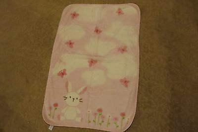 Carter's Brand Adorable Very Soft Thick Baby Girls Blanket Size 32X46 Euc! Nice!