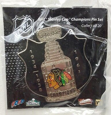 Chicago Blackhawks NHL Stanley Cup Champions Collectible Pin Badge