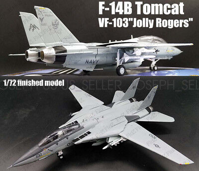 F-14B Tomcat fighter aircraft VFA-103 Jolly Rogers finish 1/72 Easy model plane