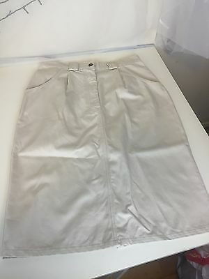 Euroa Moleskin Bone Colour Ladies Skirt Size 14 Very Good condition