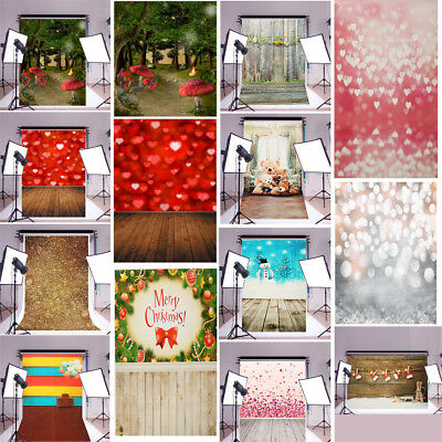14 Types 5x7ft Christmas Heart Floor Photography Backdrop Background Studio Prop