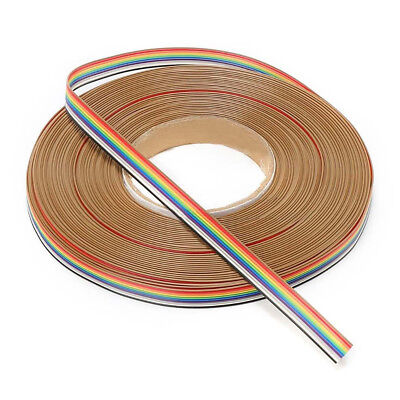 10Way - 50Way Dupont Wire Flat Flexible Rainbow Ribbon PCB Cable Pitch 1.27MM FZ