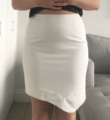 White Pencil Skirt Fresh Soul Size 12