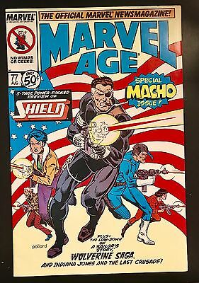 MARVEL AGE  Issue #77 August 1989 Marvel Comics  ***GREAT SHAPE!!***