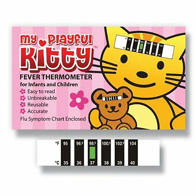 My Playful Kitty Forehead thermometer w/ Cold, Flu & Fever Baby Information Pack