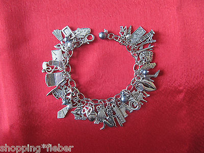 ARMBAND charm bracelet BETTELARMBAND inspired 50 FIFTY SHADES of Grey ANHÄNGER