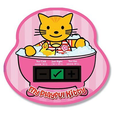 My Playful Kitty Baby Bath Thermometer Card