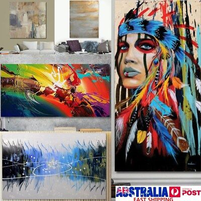 Modern Abstract Oil Painting Canvas Wall Art Poster Print Picture Home Decor AU