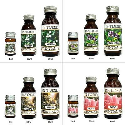 Essential Oil 5ml 30ml 60ml 100% Pure & Natural Oils inc Lavender Tea Tree