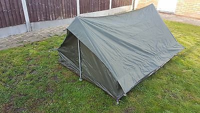 NEW French Army Tent 2 Man Lightweight Waterproof Tent With Pegs & Pole