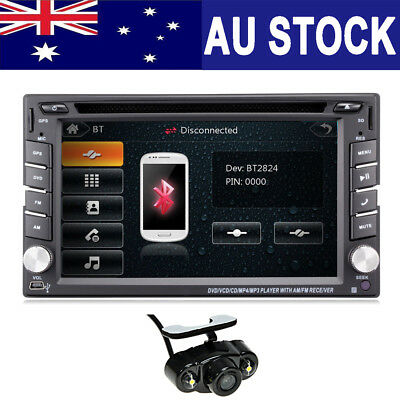 "6.2"" 2din Car DVD CD Audio video Player Stereo Map/GPS/Radio SWC Reverse Camera"