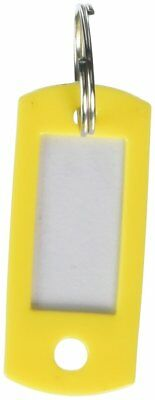 Lucky Line Key Tag with Split Ring; Yellow, 50 per Bag 16980