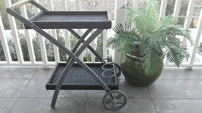 Woven Outdoor Drink Trolley