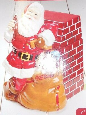 "Coca-Cola Santa 11"" Ceramic Cookie Jar - NIB"