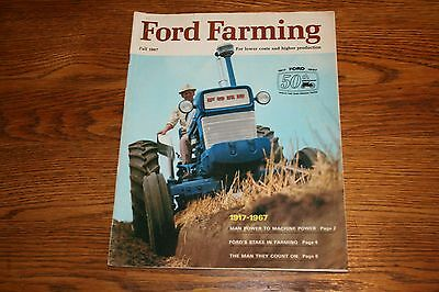 1967 Ford Farming Fall Advertising Sales Magazine