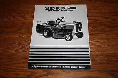 Oliver White Yard Boss T800 Lawn Tractor Advertising Sales Literature