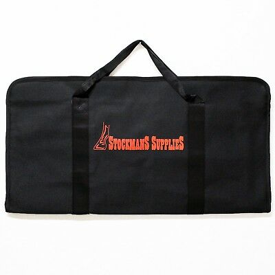 Stockmans Farrier Tool Bag | Canvas Zip Up | 14 Pockets | Black | Horse Supplies