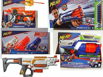 Nerf N-Strike Elite Blaster Firestrike Rough Cut Strongarm Snapfire Recon Darts