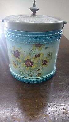 antique biscuit barrel made in england
