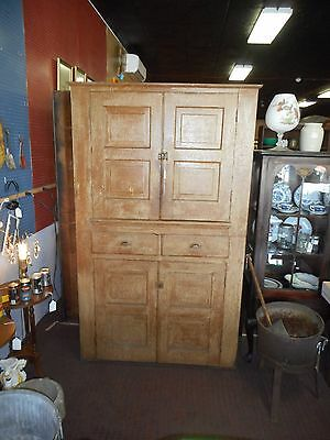 Vtg Antique Cupboard Rustic Primitive Storage China Etc.