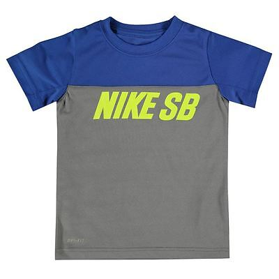 BRAND NEW With Tags Boys Blue And Grey Nike SB T Shirt Size 4-5 Yrs