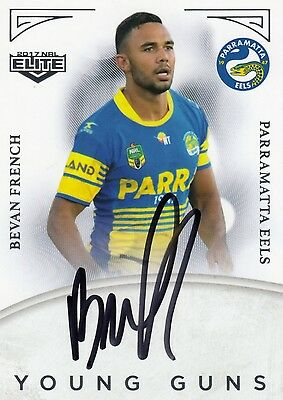 2017 NRL Elite Series Young Guns BEVAN FRENCH Eels Signature Card