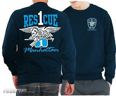 "Sweat navy, ""Rescue 1 Manhattan - Eagle"" farbig"
