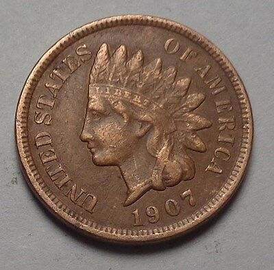 1907 Indian Head Cent,full Liberty,nice Coin!!!(C)