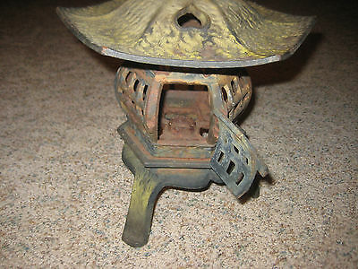 Old Estate Iron Metal Tea Ceremony Garden Pagoda Lantern Japanese