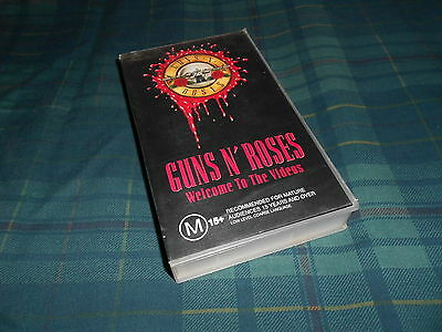Guns N' Roses Welcome To The Videos PAL VHS Video Cassette Tape Greatest Hits