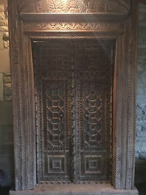 "105"" Antique Hand Carved Door"
