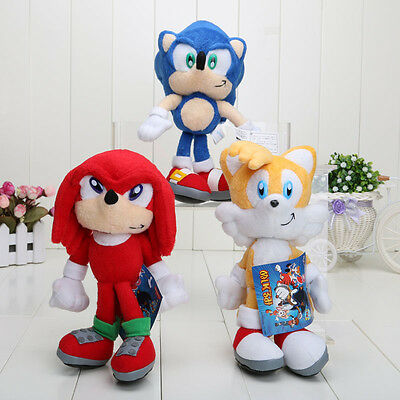 """LATEST The HEDGEHOG Sonic & Tails 9.5"""" or 23cm Soft Plush Doll Toy + GIFT"""