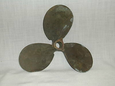 VINTAGE UNCLEANED BRASS BOAT MOTOR PROPELLER OUTBOARD MICHIGAN No 218N