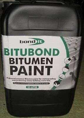 Bond It 25 Litre  Bitumen Paint Bitubond Water Proofing Bitumous 25L Bitubond