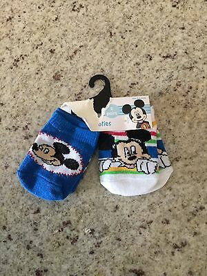 Baby Boy Socks Size 0-6 Months Mickey Mouse NWT