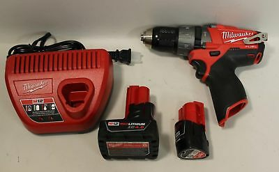 """Milwaukee 1/2"""" Hammer Drill/Driver 2404-20 w/ Batteries and Recharger 48-59-2401"""