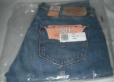 NEW Men's Levi's 501 Orignal Fit Denim Jeans Straight Leg Button Fly 36x32