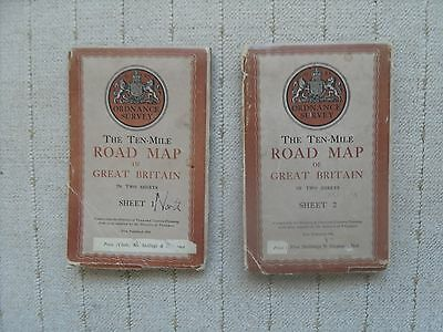 Two 1946 Road Maps covering Great Britain.