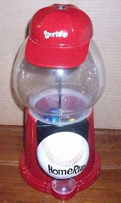 Vintage Carousel Sports Fan Home Run Baseball Gumball Dispenser Machine