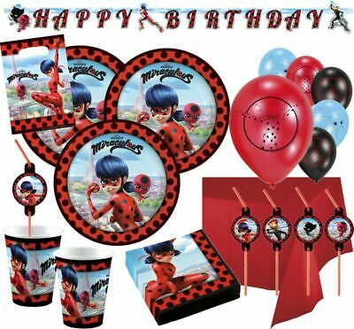 Miraculous LADYBUG Prodigiosa Party Festa Supplies Tableware Decoration Birthday