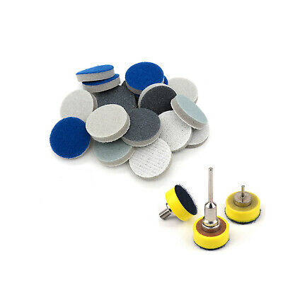 25mm 50mm Hook And Loop Sponge Foam Abrasive Sanding Pad Disc 500 - 2000 Grit