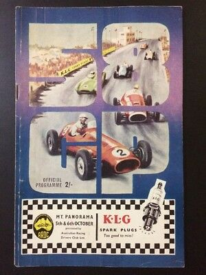 Bathurst Mount Panorama 23 Australian Grand Prix AGP Programme 5 6 October 1958