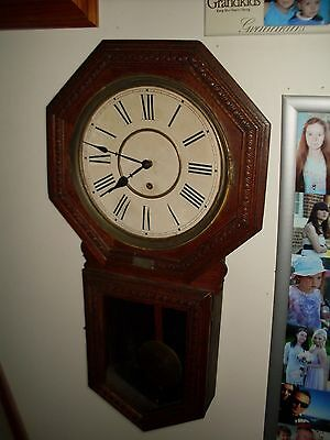 antique wall mounted raleway tipe clock