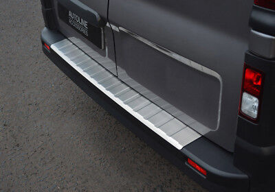 Brushed Bumper Sill Protector Trim Cover To Fit Vauxhall / Opel Vivaro (2014+)